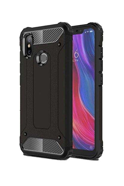 TechnoGuru Xiaomi Mi 8 Brick Hybrid Kılıf Siyah