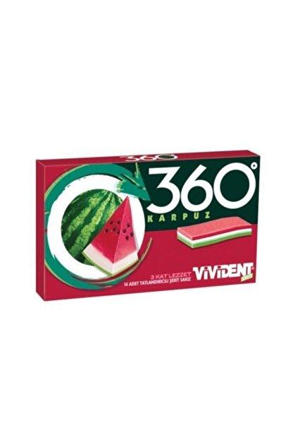 Vivident Karpuz360 Cüzdan Sakız 14lü 33gr (18adet)