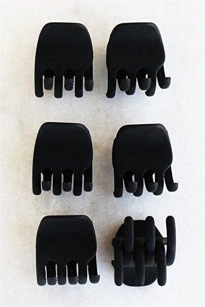 Takıştır Altılı Siyah Renk Mandal Set Toka (küçük Boy)