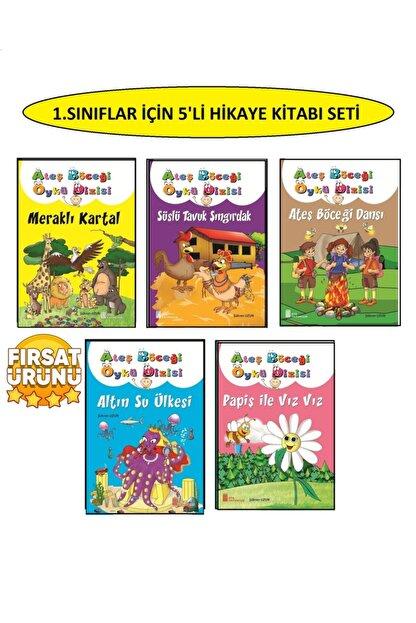 Ata Yayıncılık 1.sınıflar Için Renkli Resimli Ve Sorulu 5'li Hikaye Kitabı Seti