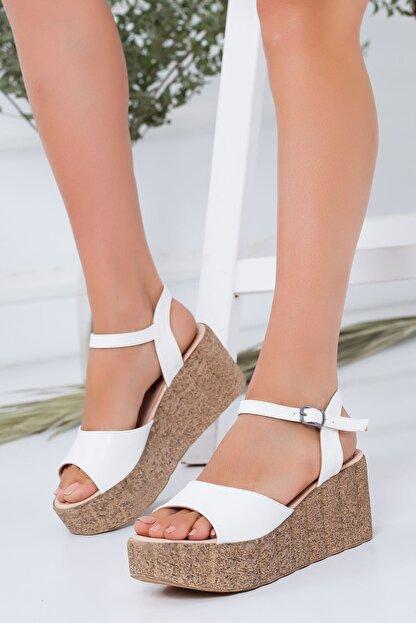 derithy -dolgu Topuklu Ayakkabı-beyaz