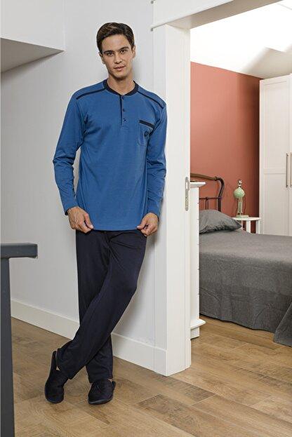 STYLE SENFONİ Erkek Uzun Kol Kışlık Penye Interlok Pijama