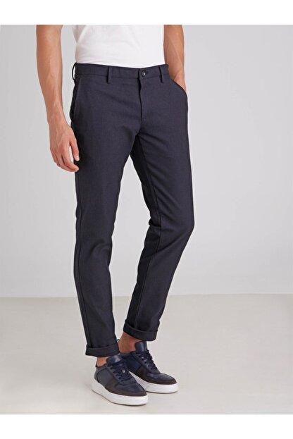 Dufy Lacivert Armür Erkek Pantolon - Regular Fit