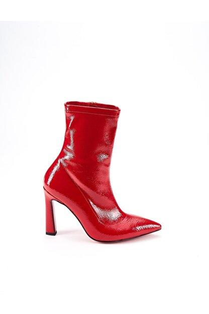 Ataköy Ayakkabı Kadın Rugan Topuklu Bot