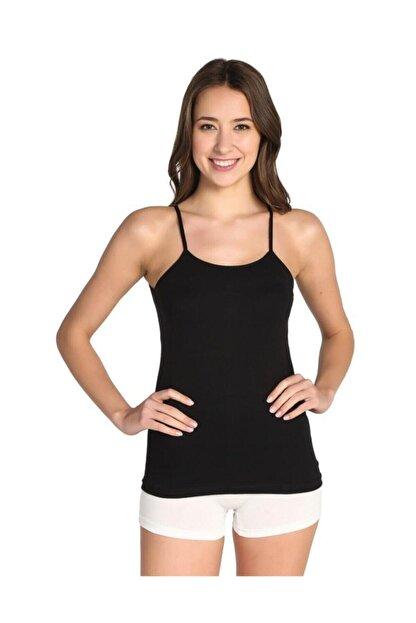 Tutku Kadın Siyah Paket İp Askılı Atlet 3'lü Elf568t0135ccm3 0135