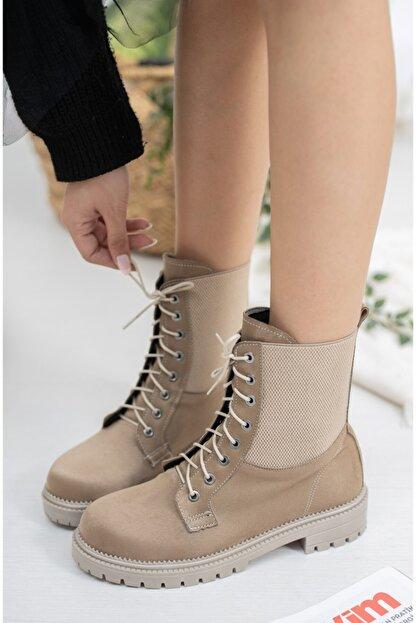 meyra'nın ayakkabıları Vizon Süet Lastikli Postal