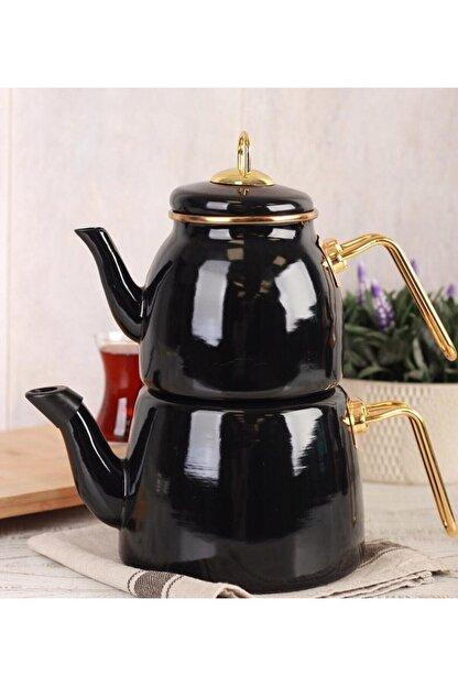 ACAR Qualita Roma Çaydanlık Takımı Siyah