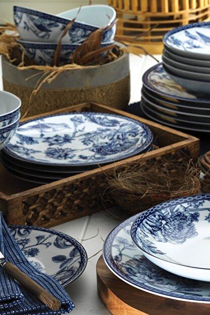 Kütahya Porselen Blue Blanc 6 Kişilik 24 Parça Yemek Takımı