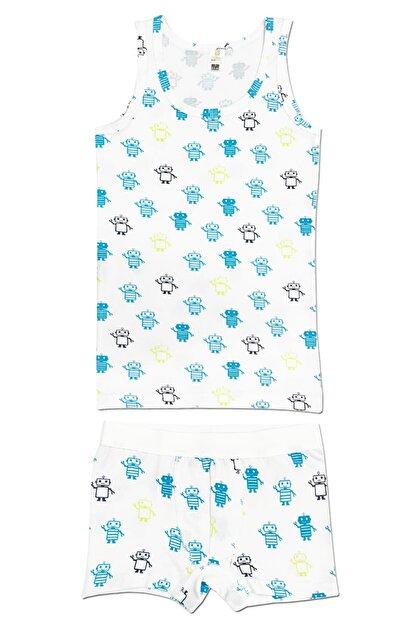 ÖZKAN underwear Erkek Çocuk Mavi İç Giyim Takım 31425