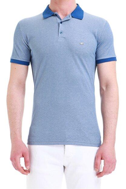 Efor Erkek Koyu Mavi Slim Fit Spor T-shirt Ts 728
