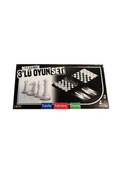 BEMİ Manyetik 3lü Oyun Seti (Tavla, Satranç, Dama)