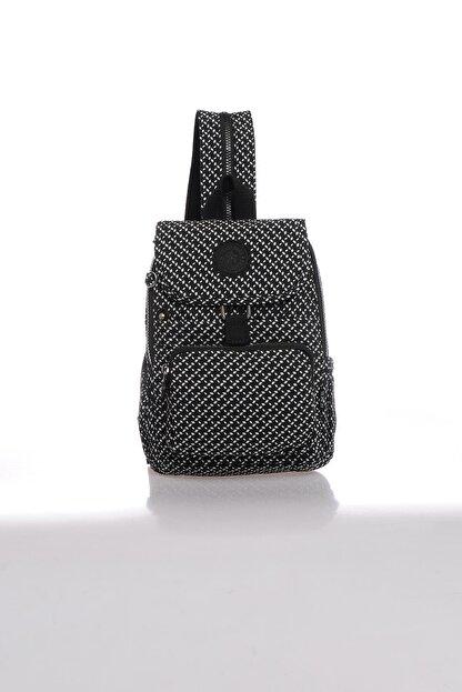 Smart Bags Kadın Siyah Beyaz Sırt Çantası Smbk1138-0127