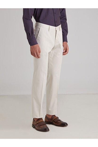 Dufy Taş Düz Pamuklu Saten Erkek Pantolon - Regular Fıt