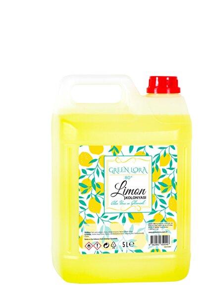 GREEN LORA Limon Kolonyası 80° Aloe Vera Ve Gliserinli 5 Lt