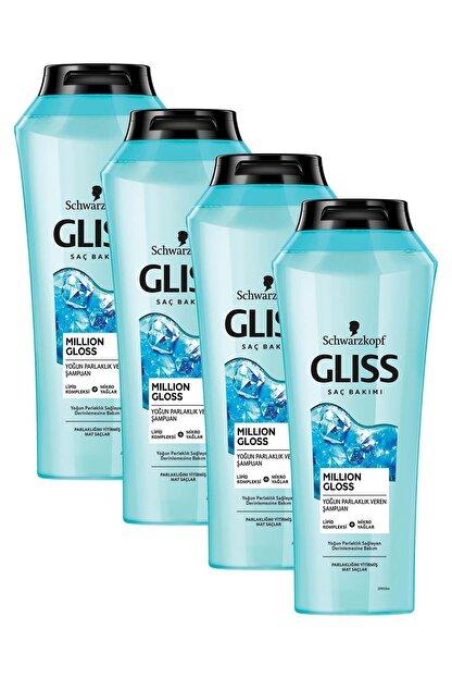 Gliss Million Gloss Yoğun Parlaklık Veren Şampuan 360 ML 4'lü