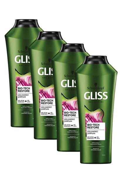 Gliss Bio-Tech Güçlendirici Şampuan 360 ML 4'lü