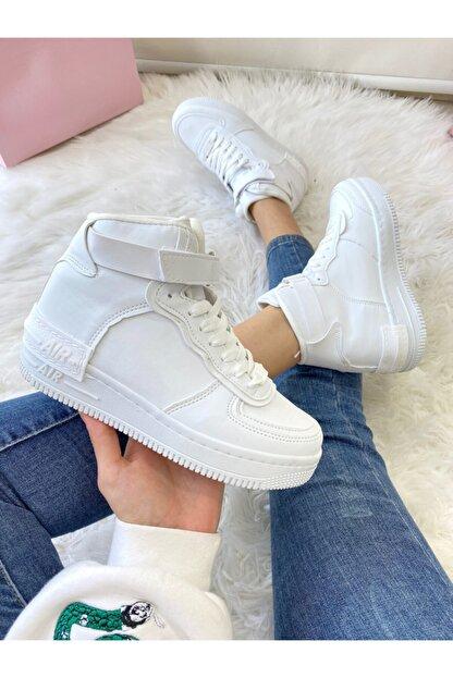ELSESHOES Kadın Bıleklı Beyaz Spor Ayakkabı