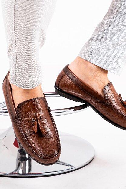 MPP Hakiki Deri Loafer Erkek Ayakkabı Atk6800 Taba