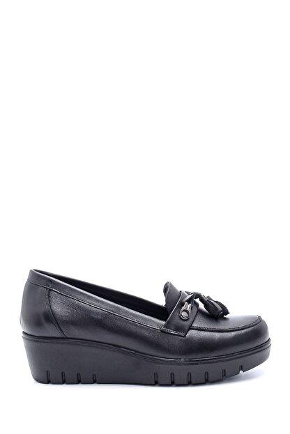Derimod Kadın Deri Püskül Detaylı Dolgu Topuk Ayakkabı