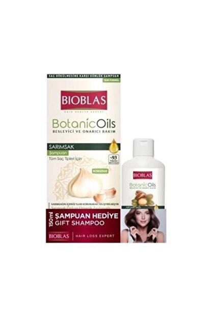 Bioblas Sarımsak Şampuan 360ml + Argan Şampuan 150 ml