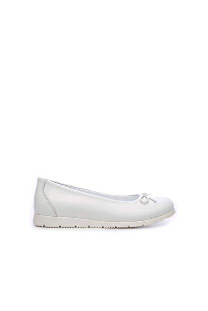 Kemal Tanca Kız Çocuk Beyaz Derı Ayakkabı 406 3020 Cck 26-36 Y19 Babet