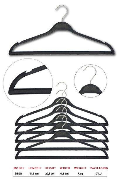 Tena Moda Unisex Siyah Dolgulu Kıyafet Elbise Gömlek Pantolon Etek Askısı 10 Adet