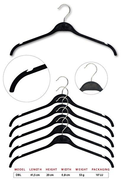 Tena Moda Unisex Siyah Dolgulu Kıyafet Elbise Gömlek Askısı 10 Adet