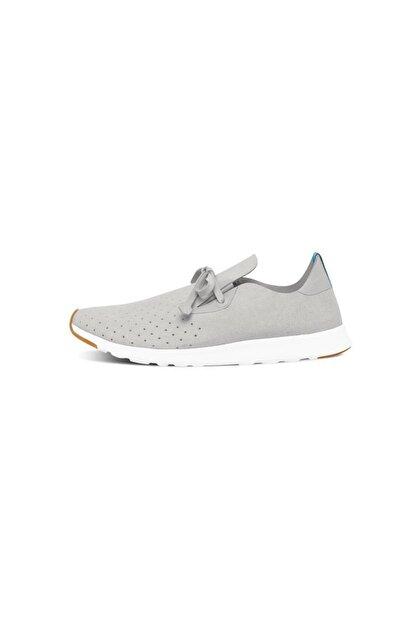 Native Shoes - Unisex Spor Ayakkabısı - Apollo Moc Pigeon Grey/shell White/nat Rubber