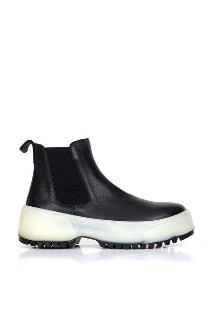 BUENO Shoes Hakiki Deri Kadın Dolgu Topuk Bot 01wr4701