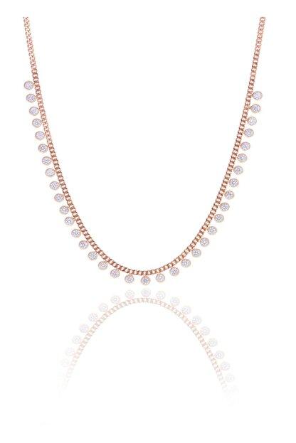 Söğütlü Silver Gümüş Rose Zirkon Taşlı Gurmet Zincirli Kolye