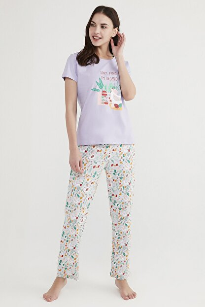 Penti Çok Renkli Don'T Panic Pijama Takımı