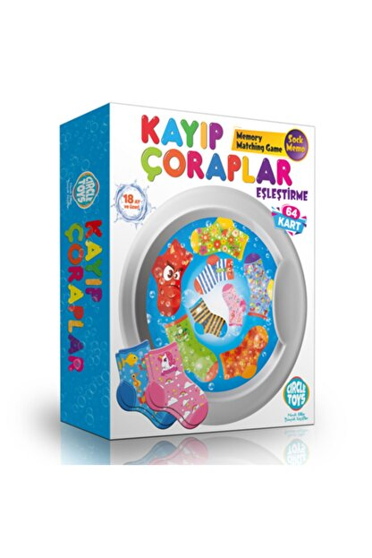 LOYAL TOYS Circle Toys Kayıp Çoraplar Eşleştirme Kartları Oyunu