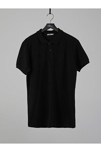 Ltb Erkek  Siyah Polo Yaka T-Shirt 012208450860890000