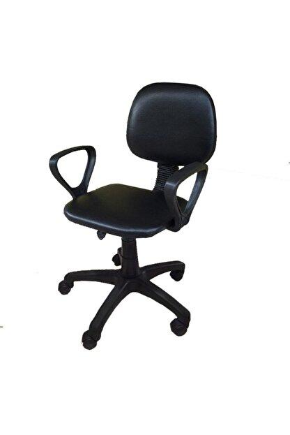TOMAR Cgn Kollu Çalışma Sandalyesi Ofis Sandalyesi Öğrenci Koltuğu Ofis Ve Büro Sandalyesi - Siyah