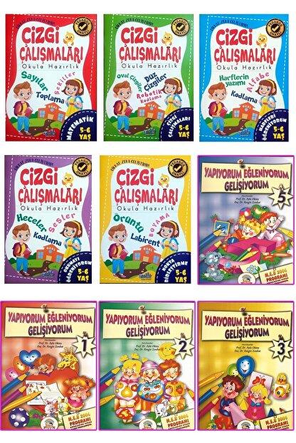 Ya-Pa Yayınları 4 - 5 - 6 Yaş Çizgi Çalışması Ve Etkinlik Seti 10 Kitap