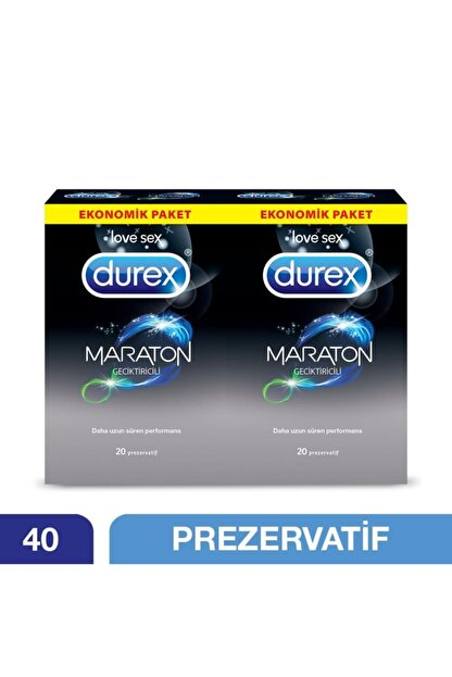Durex Maraton 40' Lı Geciktiricili Prezervatif