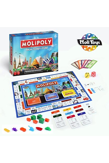 Bundera Emlak Ticaret Oyunu Molipoly Monopoly Monopoli Metropol Mega City Aile Oyunu Yeni Model