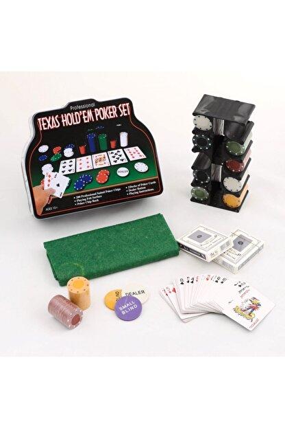 Gezgin tekstil ve aksesuar 200 Chip Ve 2 Adet Iskambil Oyun Setine Sahip Poker Oyunu