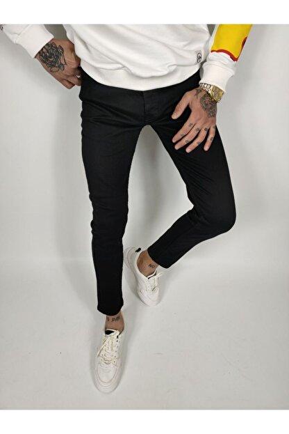 ukdwear Erkek Siyah Italyan Kesim Kot Pantolon