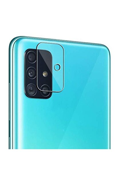 Ally Mobile Samsung Galaxy A51 Tempered Cam Kamera Koruyucu - Şeffaf