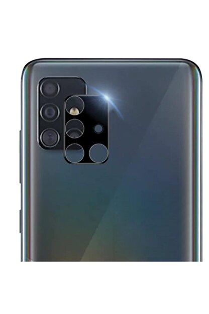 Ally Mobile Sm Galaxy A51 Hd 3d Full Tempered Cam Kamera Koruyucu - Siyah