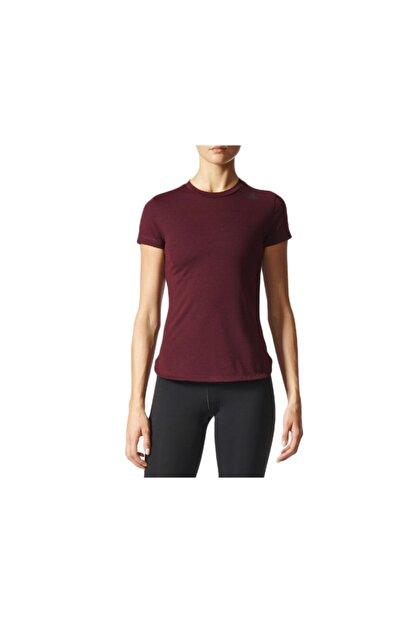 adidas Kadın Tişörtü Kırmızı Prime Tee Bk2702