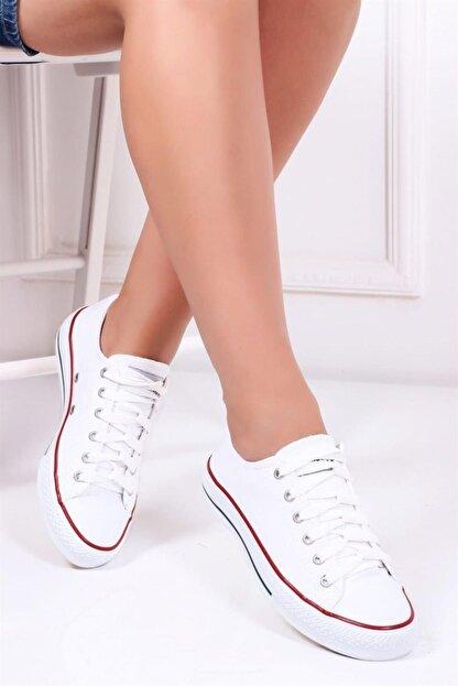 Street-Art Beyaz Kadın Sneaker Dp23-0202