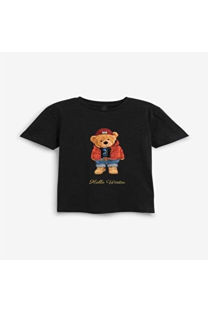 Teddies&Puppies Unisex Çocuk Mia Festa Exclusive Hello Winter Ayıcıklı T-shirt