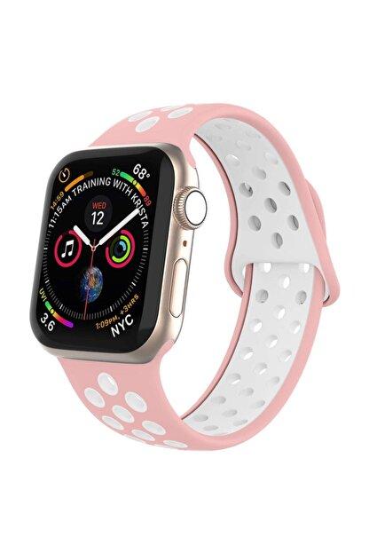 Robotekno Apple Watch Silikon Delikli Kordon Iwatch Uyumlu Kayış Seri 1 | 2 | 3 | 4 | 5 - 38mm/40mm