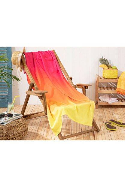 English Home Aloha Baskılı Plaj Havlusu 80x150 Cm Turuncu