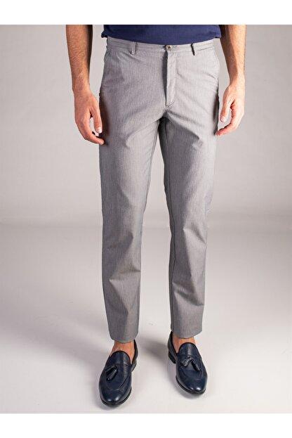 Dufy Gri Düz Erkek Pantolon - Regular Fıt