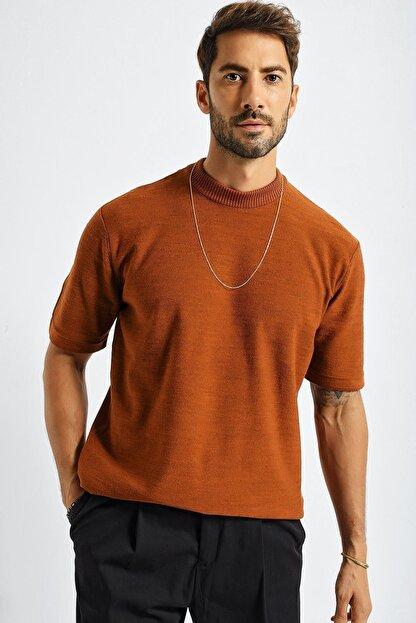 CHUBA Erkek Oversize Triko T-shirt Tarçın 20w188