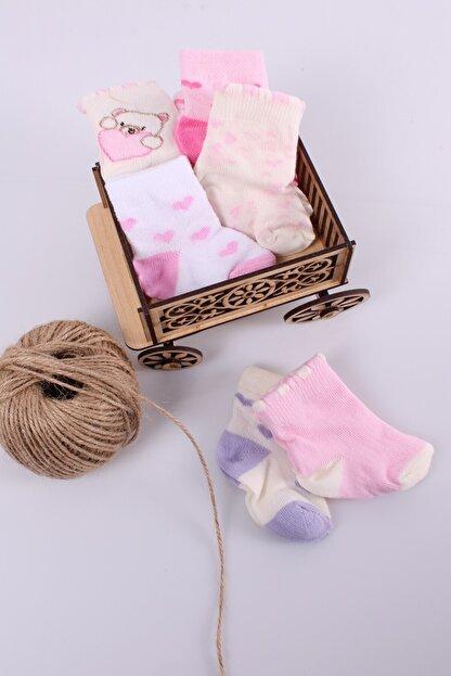 Babydonat Kız Bebek Çorabı 6 Adet 0-3 Ay
