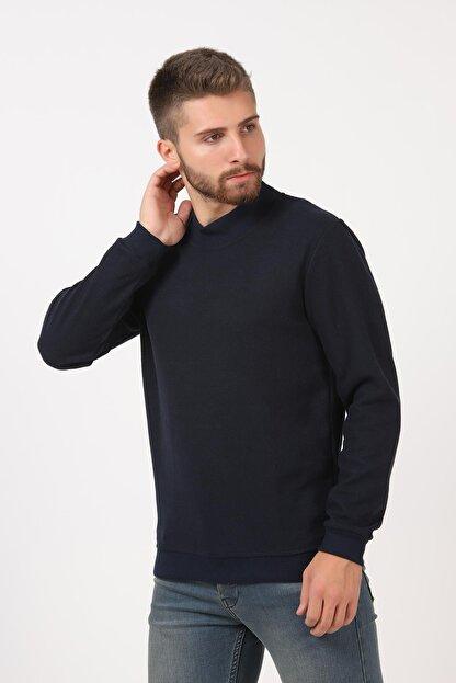 Tena Moda Erkek Lacivert Yarım Balıkçı Yaka Selanik Sweatshirt